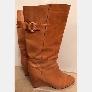 Loeffler Randall Wedge Buckle Boots, Size 7